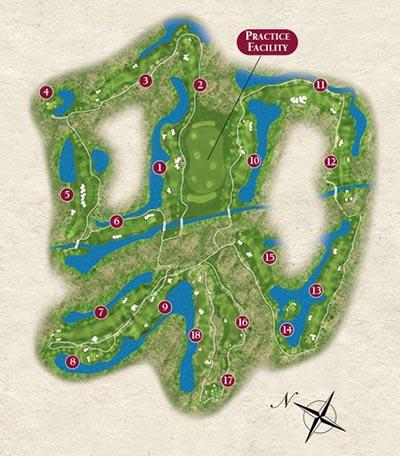 Course Layout Latour Golf Club