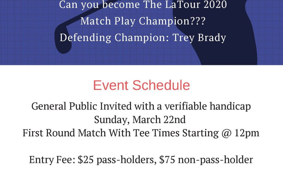 March Madness Match Play Event