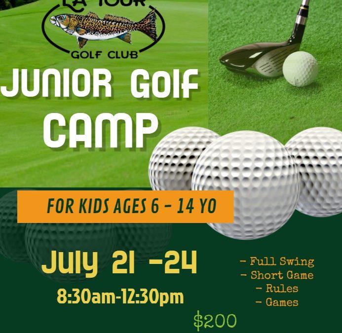 Register now-Junior Golf Camp July 21st-24th!